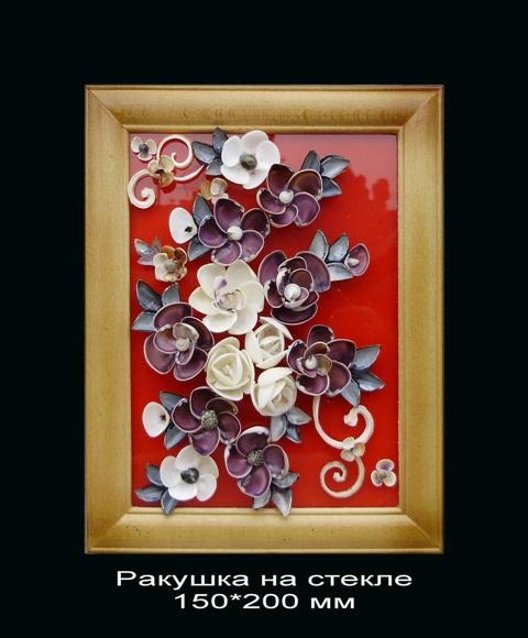 ...знакомому, начальнику и т.д. Предлагаю отличный подарок картинку из ракушек на стекле. картина 4. ракушка морская.